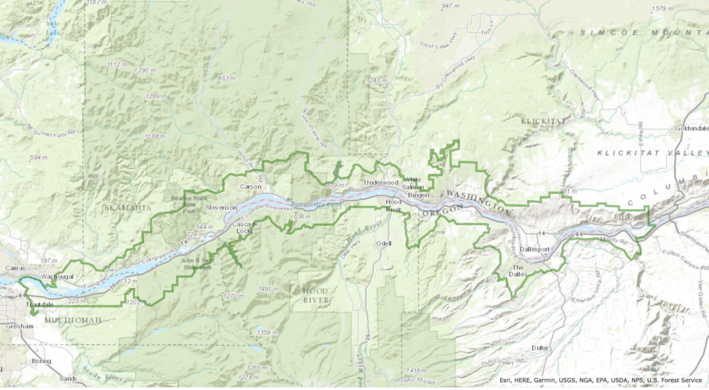 Trip Maps Skamania County Chamber Of Commerce - Columbia river on us map